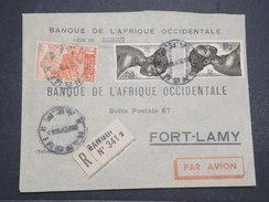 AEF - Env Recommandée Oubangui Pour Fort Lamy - Par Avion - Fev 1953 - P22101 - A.E.F. (1936-1958)