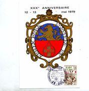Carte Cachet Dole Jura Don Du Sang - Postmark Collection (Covers)