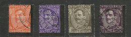Yugoslavia > 1934 Kingdom Of Yugoslavia , Black Frame Error Overprint - Used Stamps