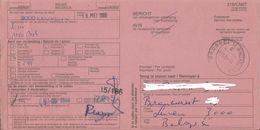 BERICHT VAN ONTVANGST MEI 2000 - 3000 LEUVEN - AFGESTEMPELD BRUSSEL - Documents Of Postal Services