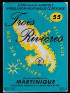 Etiquette Rhum Trois Rivière Martinique 55 - Rhum