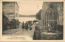 PLOUGASTEL - DAOULAS     ***  Le Passage,le Puits,la Chapelle   ***  Belle Cpa Très Animée - Plougastel-Daoulas