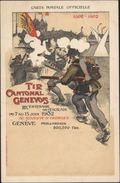 Carte Publicitaire Tir Cantonal Genevois III Centenaire De L'escalade 7 15 Juin 1902 Stand Georges Concours Tir Suisse - Suisse