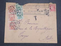 FRANCE - Env Taxée Mazières Pour Troyes - 1947 - Légèrement Déchirée En Tête - P22107 - Marcophilie (Lettres)