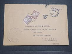 FRANCE - Env Taxée Dijon Pour Troyes - 1942 - P22109 - Marcophilie (Lettres)