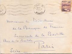 MAROC ENVELOPPE DU 27 JUIN 1955 DE RABAT POUR PARIS - Marokko (1891-1956)