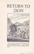 Jewish Judaica Art Print 13x20cm - Return To Zion - JUDAISME JUDAIKA - Unclassified