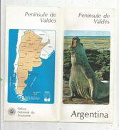Dépliant Touristique, 12 Pages , Argentina , Argentine ,peninsule De VALDES , Frais Fr : .1.45 E - Tourism Brochures