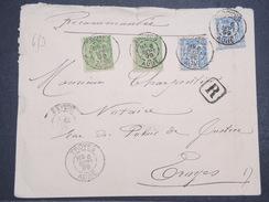 FRANCE - Env Recommandée Troyes Pour Troyes - Joliment Affranchie - Sept 1899 - P22112 - Marcophilie (Lettres)