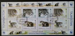 Tadjikistan - Feuille YT N°86 à 89 - Protection De La Faune / Chats Sauvages - 1996 - Oblitéré - Tadjikistan