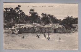"AK Afrika Tunesien Gabes ""le Moulin à Chenini"" 1928-02-09 Foto - Tunisie"