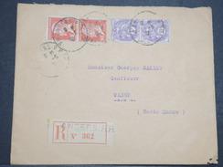 FRANCE - Env Recommandée Angers Pour Wassy - 1930 - P22115 - 1922-26 Pasteur