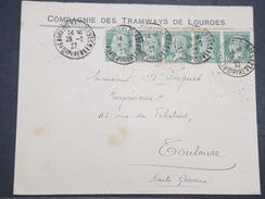 FRANCE - Env Recommandée Lourdes Pour Toulouse - 1927 - P22118 - 1922-26 Pasteur