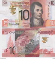 SCOTLAND    Just Issued 10 Pounds POLIMER    Clydesdale Bank Pnew  25th JAN. 2017     UNC - [ 3] Scotland