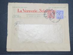 FRANCE - Env Censurée Partis De Paris  - 1940 - P22116 - Marcophilie (Lettres)