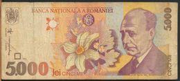 °°° ROMANIA - 5000 LEI 1998 °°° - Romania