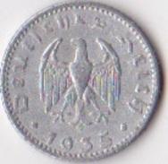 R.F.A. Pièce De 50 Reichpfennig 1935 - [ 4] 1933-1945 : Tercer Reich
