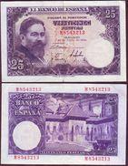ESPAGNE - 25 PESETAS Isaac Albeniz - 22/07/1954 - P.147 - [ 3] 1936-1975 : Regime Di Franco
