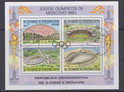 Sao Tome E Principe 1979 Olympic Games Moscow M/s Used Cto (37129) - Sao Tome En Principe
