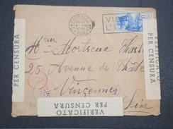 ITALIE - Env Censurée Firenze Pour Vincennes (France) - 1941 - P22120 - Marcophilie