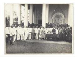 Cambodge  Battambang Cérémonie D'intronisation D'un Chef Bonze - 1934  Jean De Lens Résident ( De 1941 à 1943 ) - Zonder Classificatie