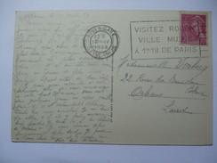 FRANCE - Visitez Rouen Ville Musee - Postmark Rouen Gare - Postmark Collection (Covers)