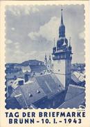 III. Reich, Propaganda  Karte,  Tag Der Briefmarke, Brünn 1943 - Weltkrieg 1939-45