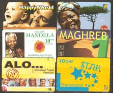 6 Télécartes - Phonecards