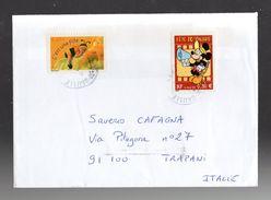 FRANCIA : Storia Postale - 2 Valori Del  2004  Su Lettera Per L'Italia Yvert N° 3634  E 3641 - Francia
