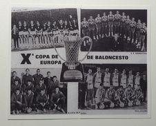 Slovenia Basketball Cards  Stickers  Nr. 9-10 Olimpija Ljubljana : Real Madrid 1966/67 Copa De Europa - Adesivi