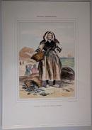 Pêcheuses D'Huîtres De Cancale Gravure P. H. Lalaisse - 37,5 Cm X 26,5 Cm - Galerie Armoricaine (Derveaux) - Prints & Engravings