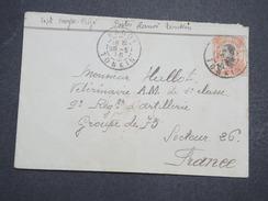 INDOCHINE - Env Hanoi Pour La France Adressée à Un Vétérinaire Et Militaire - 1916 - P22123 - Indochine (1889-1945)