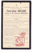 DP Pieuse - Flavie L. Ingelaere ° 1847 † Bailleul Belle FR Nord 1927 X Edouard Behaegel - Santini