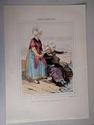 Femmes De St Servan, De Dinard & Environs De St Malo Gravure P. H. Lalaisse - 37,5 Cm X 26,5 Cm - - Prints & Engravings