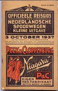 Dienstregeling Horaire Chemins De Fer - Reisgids Nederlandse Spoorwegen 1937 - Europe
