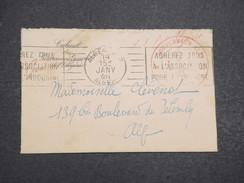 ALGERIE FRANçAISE - Petite Env Du Cabinet Du Gouverneur De L'Algérie Pour La France - Cachet Rouge - Janv 1946 - P22125 - Marcophilie (Lettres)