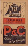 Dienstregeling Horaire Chemins De Fer - Reisgids Nederlandse Spoorwegen 15 Mei 1939 - Europe