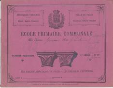 Couverture De Cahier - Ecole Primaire Communale, Ville De Paris - Protège-cahiers