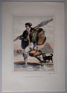 Pêcheur Montois - Mont Saint Michel - Gravure P. H. Lalaisse - 37,5 Cm X 26,5 Cm - - Prints & Engravings