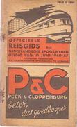 Dienstregeling Horaire Chemins De Fer - Reisgids Nederlandse Spoorwegen 10 Juni 1940 - Europe