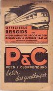 Dienstregeling Horaire Chemins De Fer - Reisgids Nederlandse Spoorwegen 6 Oct 1941 - Europe