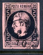 ROMANIA 1866 Prince Carol I  20 Para Type I Used.  Michel 16y - 1858-1880 Moldavia & Principality