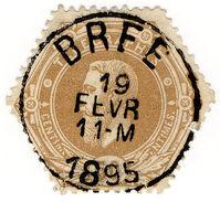 (I.B) Belgium Telegraphs : 50c Bistre (1871) - België