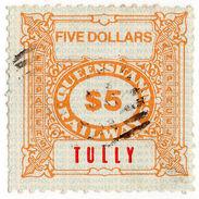 (I.B) Australia - Queensland Railways : Parcel Stamp $5 (Tully) - Australie