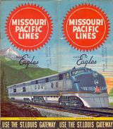 Dienstregeling Horaire Chemins De Fer - Schedules Railways Missouri Pacific Lines - St Louis Gateway - 1951 - Monde
