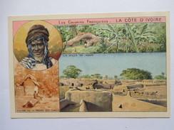 COTE D ' IVOIRE    -  CARTE  A  VUES  MULTIPLES   -   PUB  CHOCOLAT  LA COLONIALE       TTB - Ivory Coast