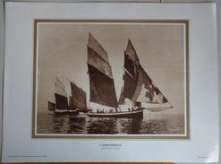 L'Hirondelle Can 13 - Bisquine Pilote De Cancale -  40 Cm X 30 Cm - - Prints & Engravings