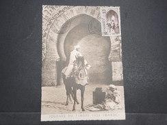 """MAROC - Carte Postale Journée Du Timbre """"Cavalier Du Bled"""" Voyagée Pour Bagnères De Bigorres (France) - 1953 - P22129 - Maroc (1891-1956)"""