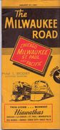 Dienstregeling Horaire Chemins De Fer - Schedules Railways The Milwaukee Road - Chicago - St Paul - Minneapolis 1951 - Monde