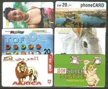 6 Télécartes - Tarjetas Telefónicas